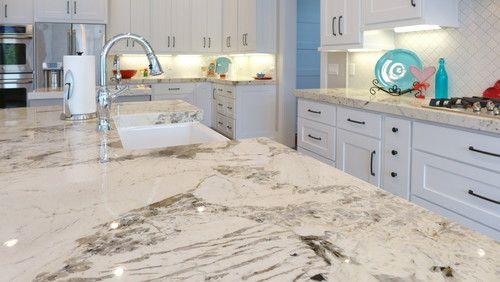 Alpine White Granite Granite Countertops Kitchen White Granite Countertops Wooden Kitchen Cabinets