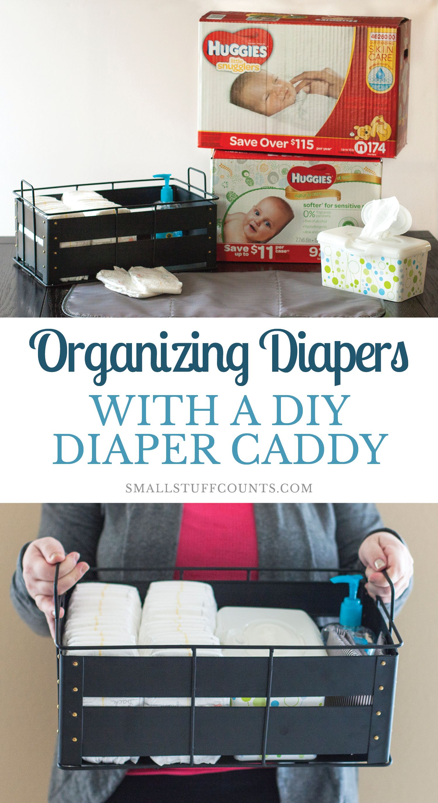 Organizing Diapers With A Diy Diaper Caddy Diy Diapers Diaper Caddy Diaper Caddy Diy