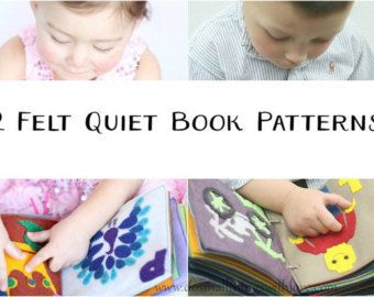 Rainbow Felt Quiet Book for Kids Coloring Activities by ShillOPOP