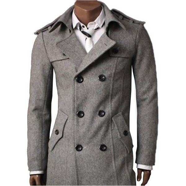 pea coat | Jovve Wool Full Pea Coat in Gray (Product ID: 18 ...