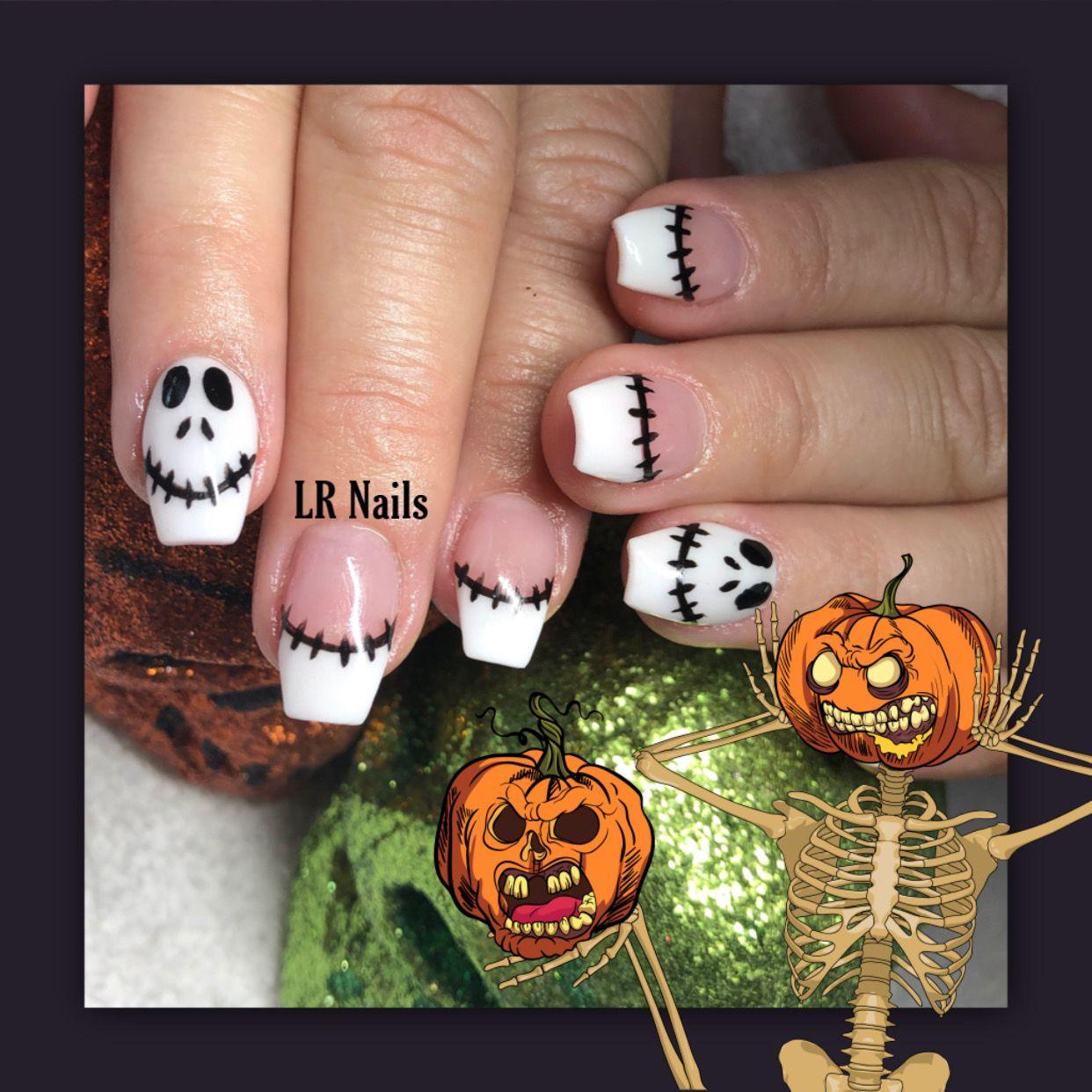 Jack Skeleton nails | Nails, Enamel pins, Jack skeleton