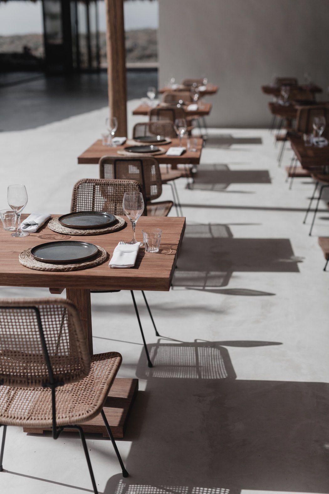 Casa Cook Kos Kos Greece Bistro Interior Dinner Table Chairs