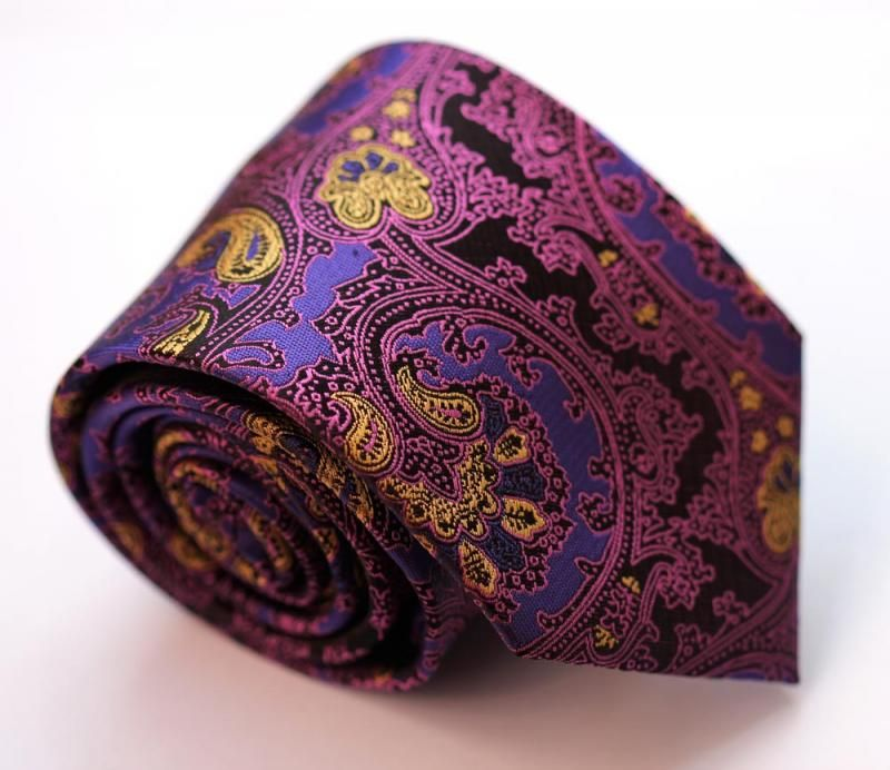 """www.clalifestyle.com  100% GENUINE JACQUARD WOVEN SILK ********************HANDMADE********************    Royale (Purple), Carnation (Pink), Sundew (Yellow) ,Jet (Black)    Floral-PAISLEY    59""""L x 3.4""""W    **********Limited Quantity On Hand!**********  ******SPECIAL EDITION Backordered!!******"""