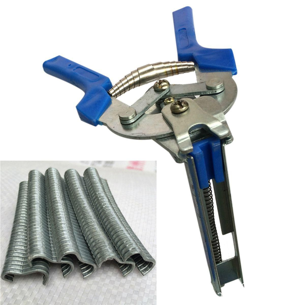 1pc Hog Ring Plier Tool And 600pcs M Clips Chicken Mesh Cage Wire Fencing Crimping Solder Joint Welding Repair Hand Tools Tools Hand Tools Wire Fence