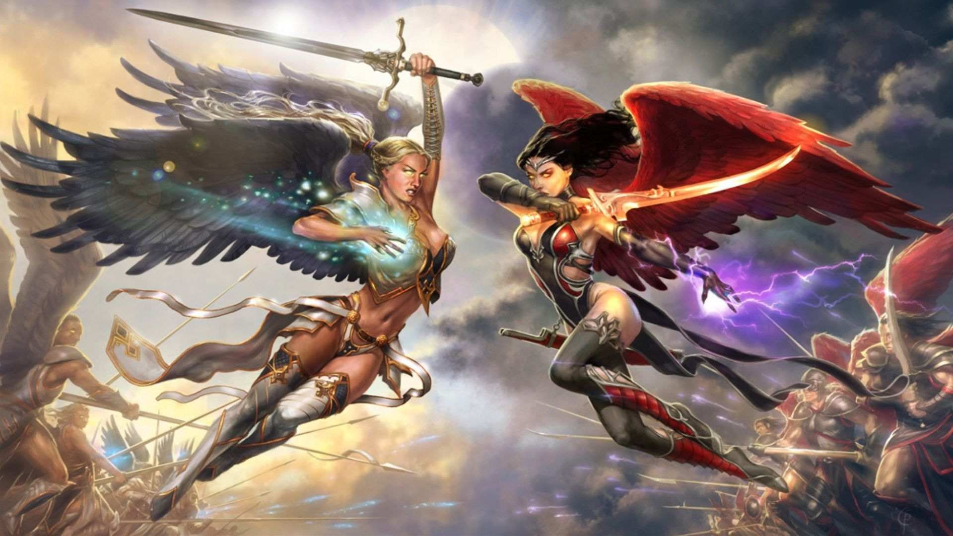 Artwork Battles Fans Fantasy Art Female Warriors Wings