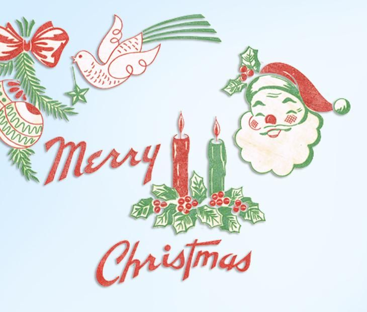Old 1950s Mail Order Textilprint Transfer #828 Vintage Christmas Santa Holiday Motifs Original Old Hot Iron Transfers This is another pretty vintage transfer and this one is in color.. no embroidery needed.. just iron and go. It is a quick pick me up for vintage linens.. Maybe cover a spot or two..great for kids clothes too.