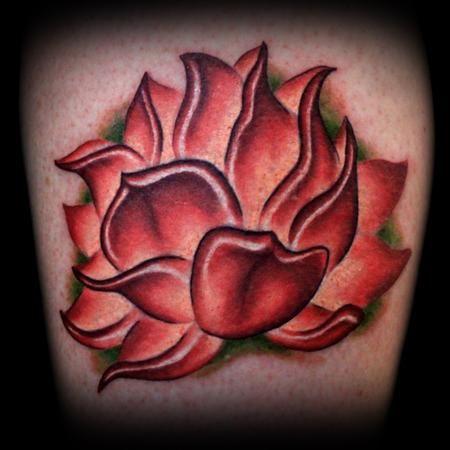 Realistic Red Lotus Flower Tattoo Flower Tattoos Lotus Flower Tattoo Design Realistic Lotus Tattoo