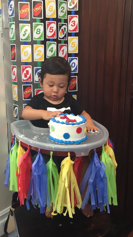 Uno Themed Birthday Uno Smash Cake