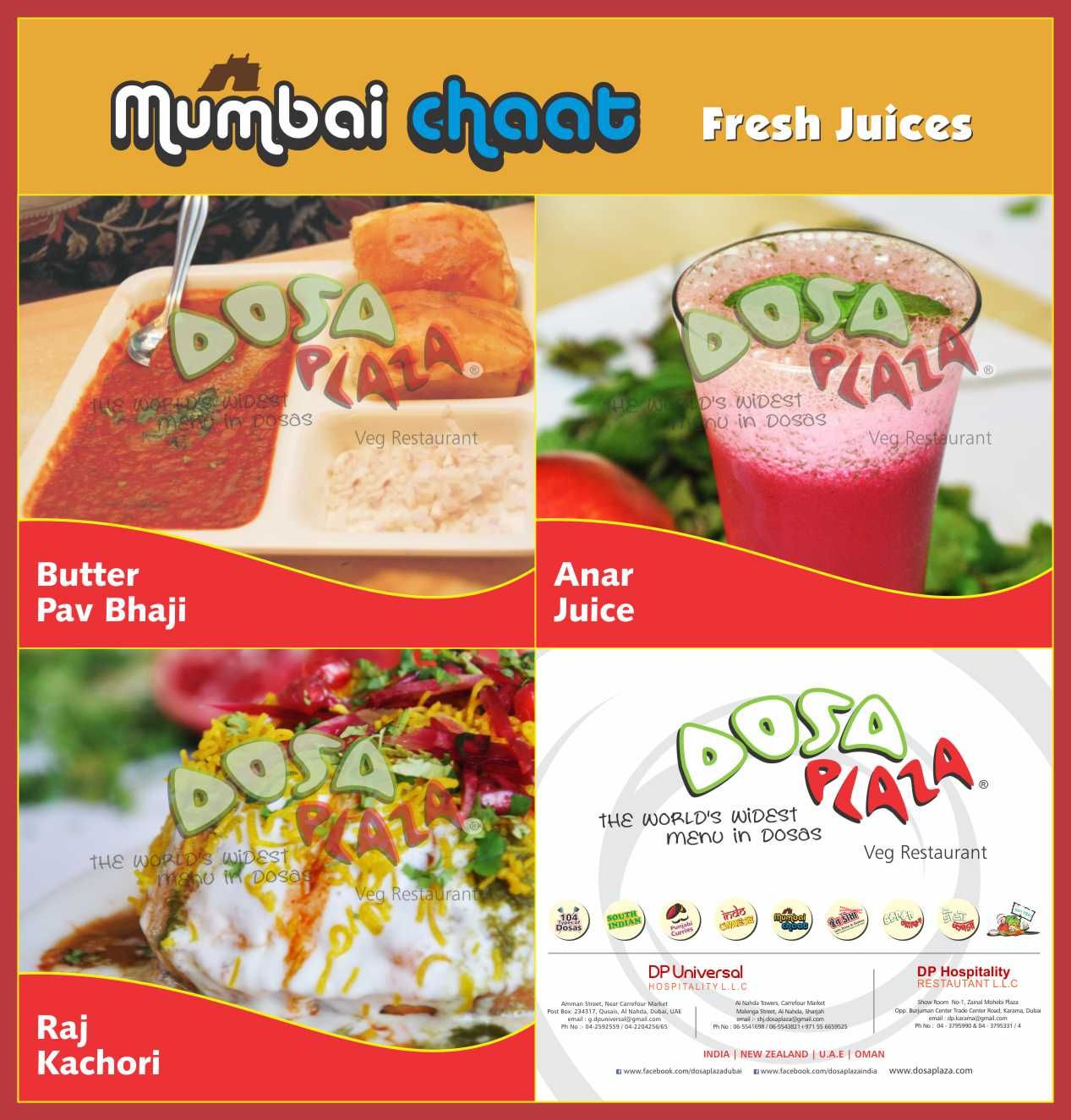 Freash Fruit Juices Are Available At Dosa Plaza Gandhidham Veg Restaurant Chaat Snack Recipes