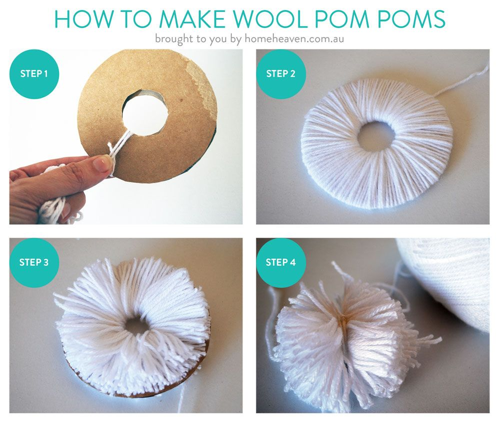 How to make pom poms out of wool google search for What to make with pom poms crafts