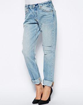 Jeans boyfriend levi's 501 femme