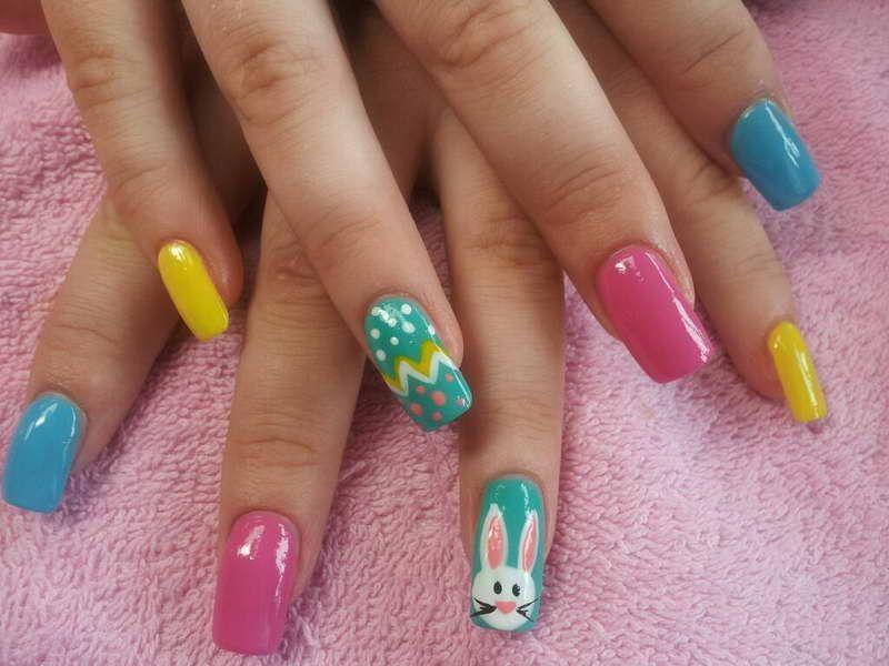 Fake Nail Tips – Know the Types: Fake Nail Tips With Rabbit Painting ...