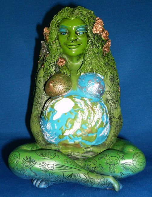 Millennial Mother Goddess Gaia Statuary By Oberon Zell And
