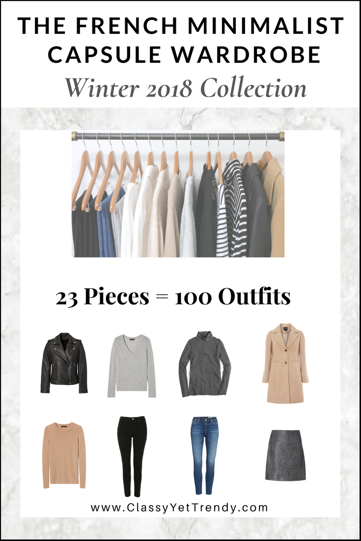 d616af953dd6e The French Minimalist Capsule Wardrobe: Winter 2018 Collection Maximize your  closet, get dressed quickly and get 100 French-inspired outfits from only  23 ...