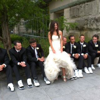 All about the wedding shoes--Jimmy Choo's and retro Jordan's  signatureeventsby.