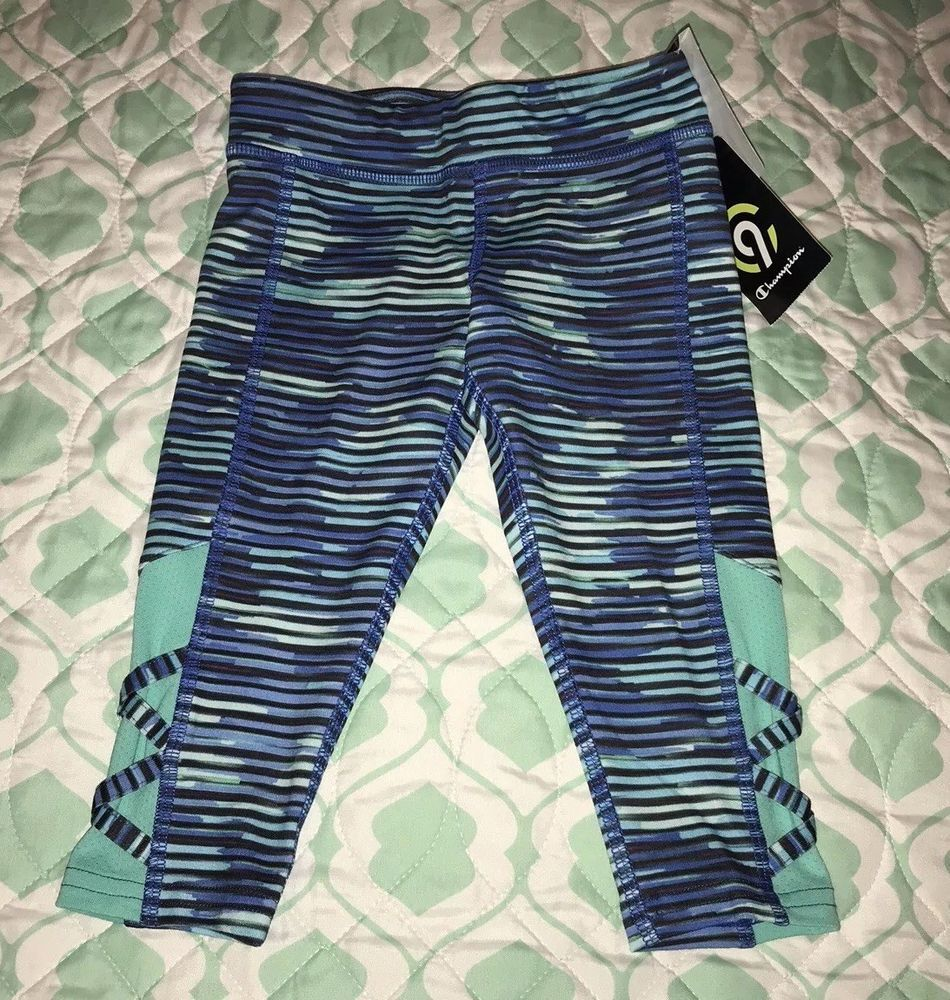 9e336e98df25 NWT C9 by Champion Toddler Girls Athletic Capri Leggings Size XS 4-5  Turquoise  fashion  clothing  shoes  accessories  kidsclothingshoesaccs ...