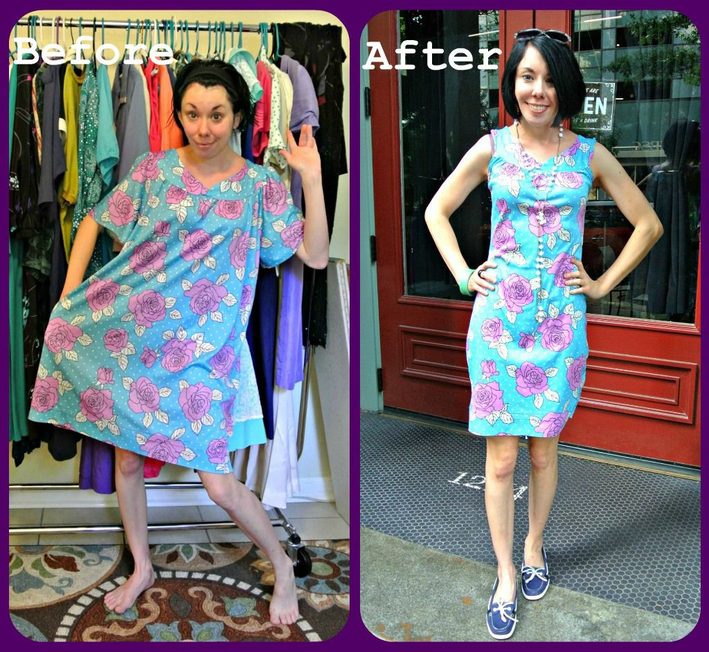 Ugly muumuu to adorable floral sheath dress | Wear It | Pinterest ...