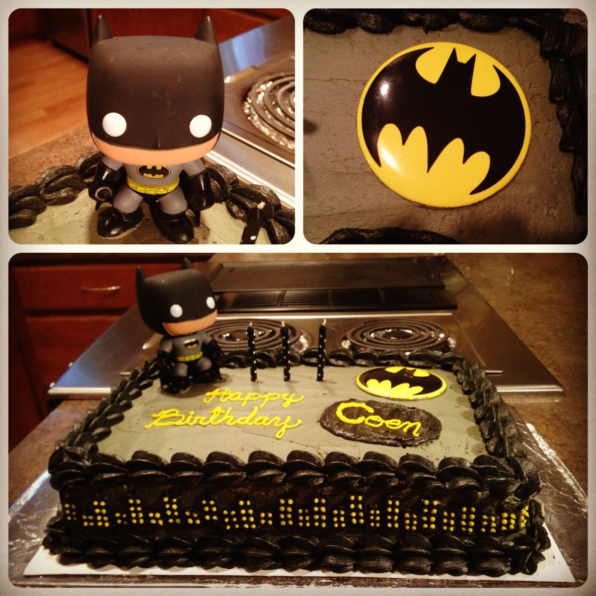 Homemade Batman Cake For A 3 Year Old S Birthday Party He Loved