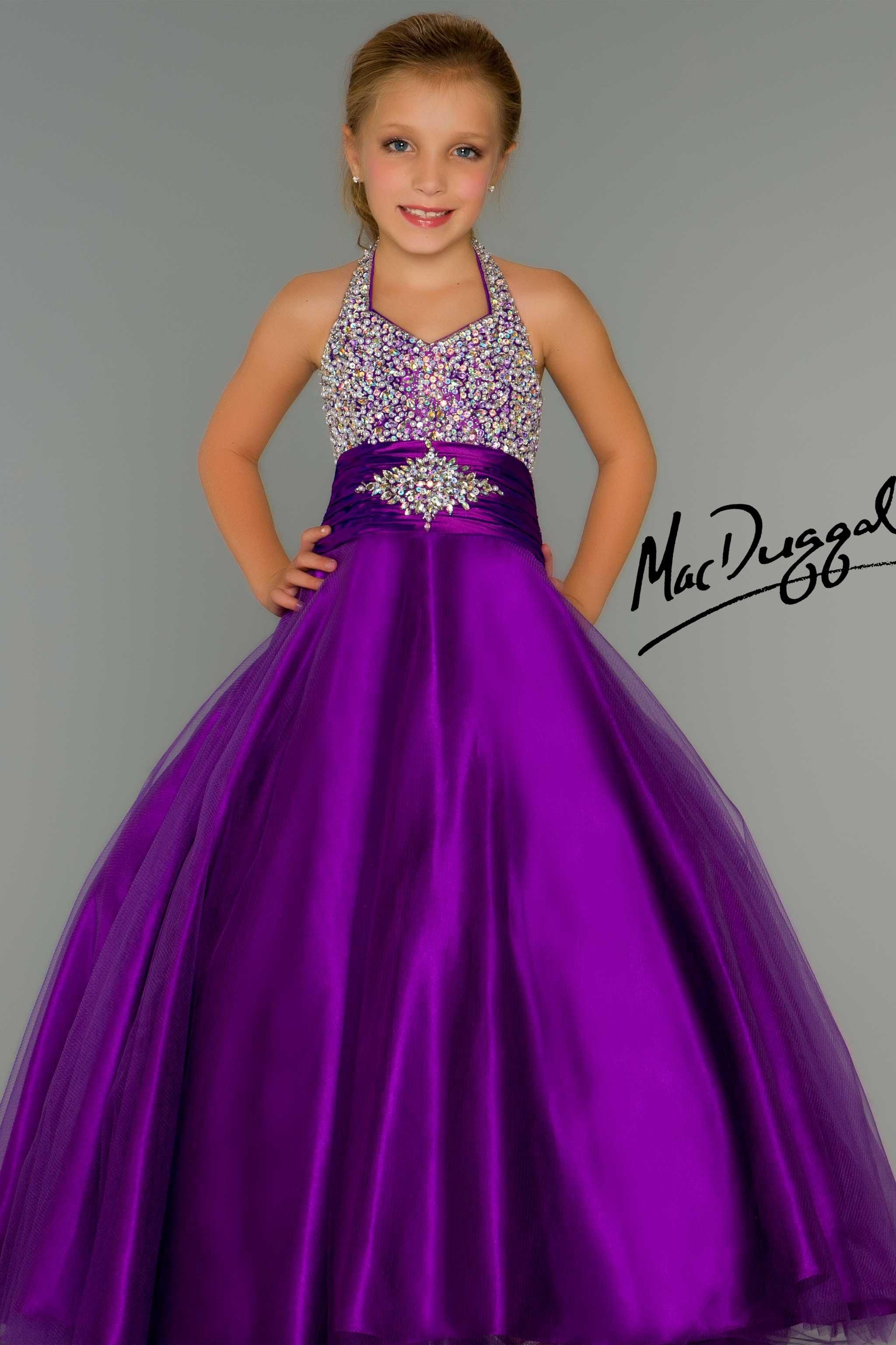 Little Girls Pageant Dress in Purple - Mac Duggal | Glitz & Glam ...