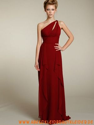 2013 Moderne Rote Abendkleider aus Chiffon Kolumne ...