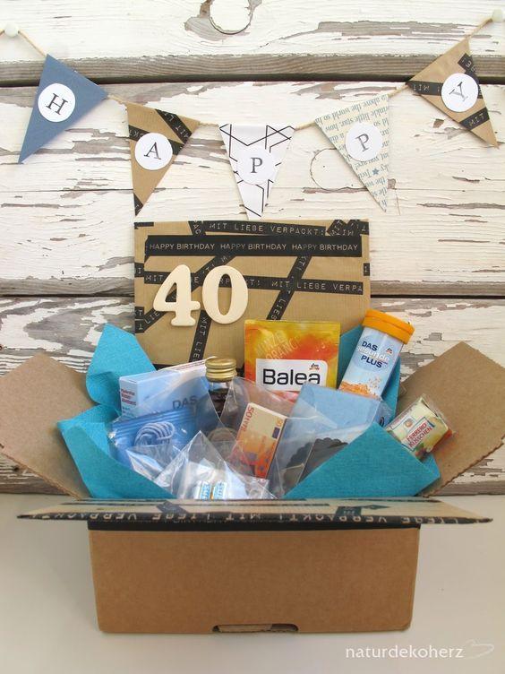 Notfallbox Zum 40 Geburtstag Geschenk 40 Geburtstag Frau