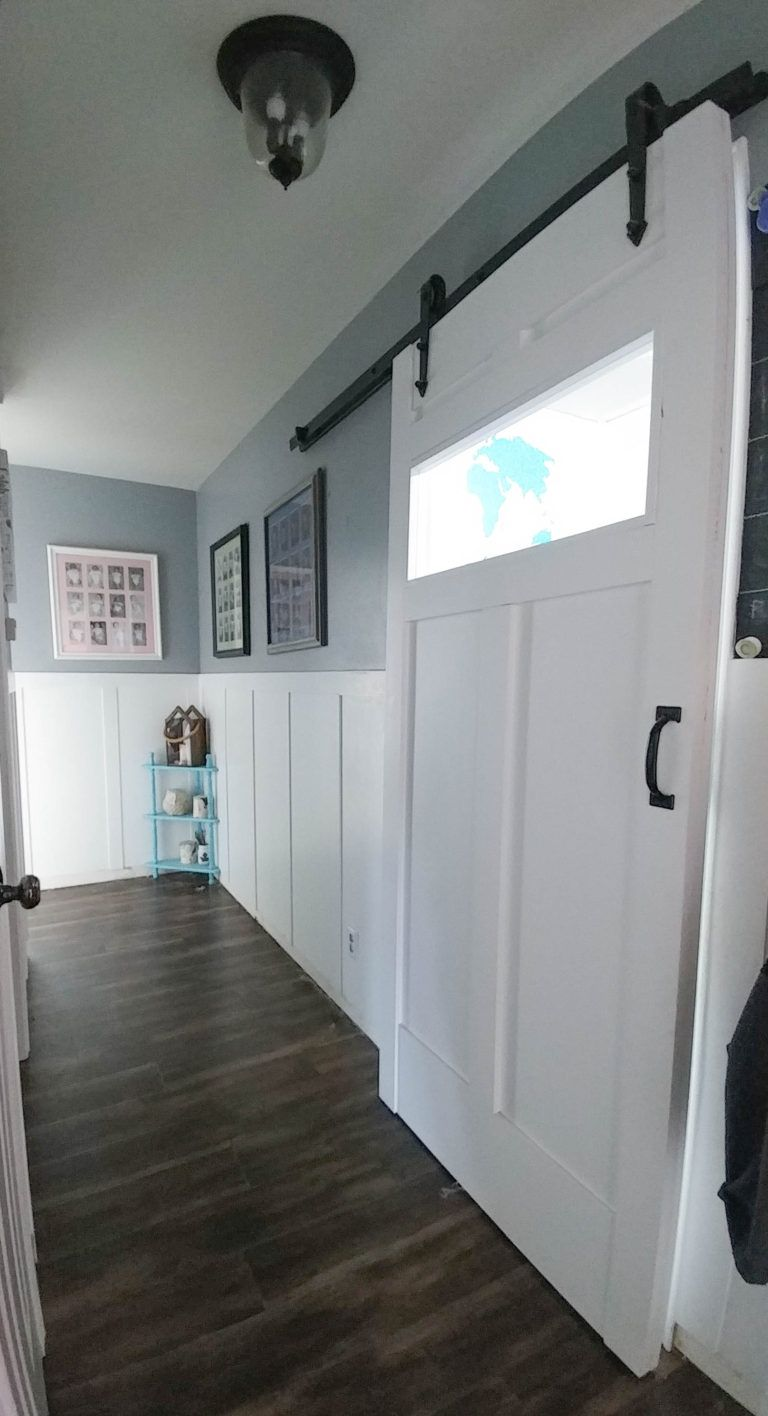 DIY barn door in hallway | Screenshots | Pinterest