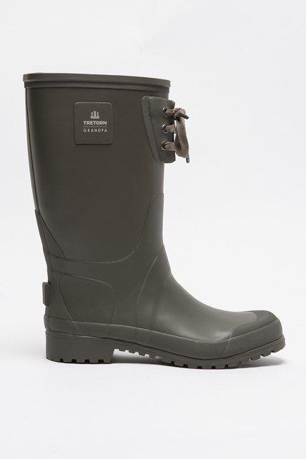 Strong Grandpa Green Boots Rain Boots Rubber Rain Boots