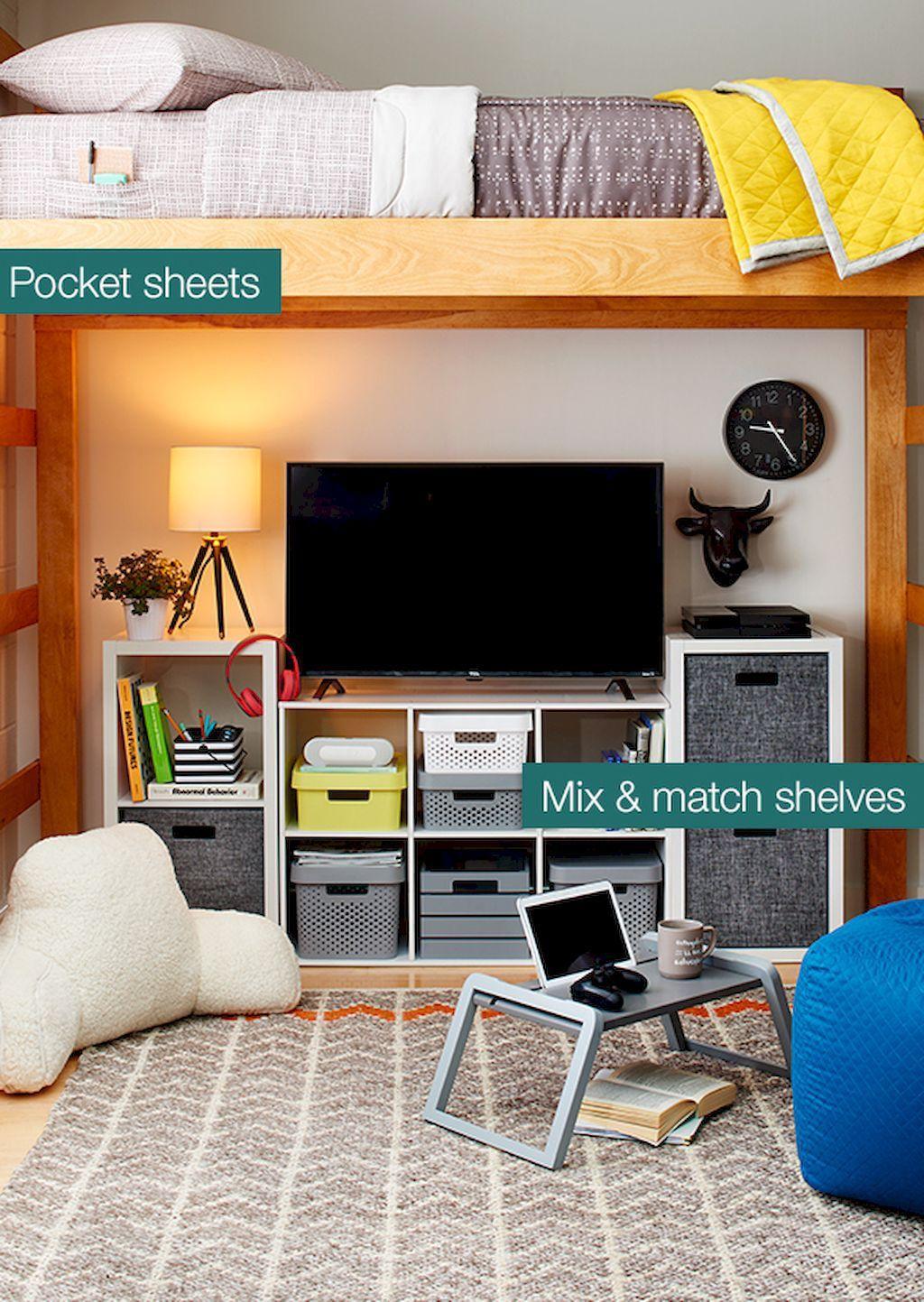 100 Cute Loft Beds College Dorm Room