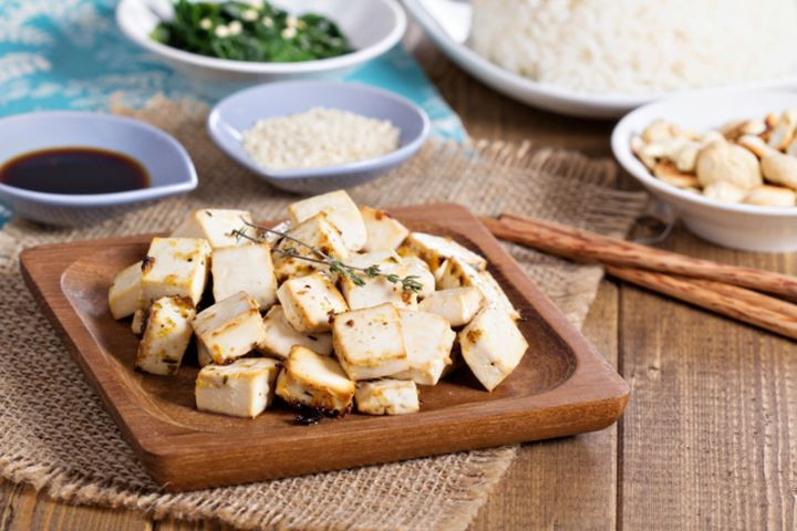 Grilled Tofu Steak: This dish is great served with steamed or fried rice and an Asian green vegetable.