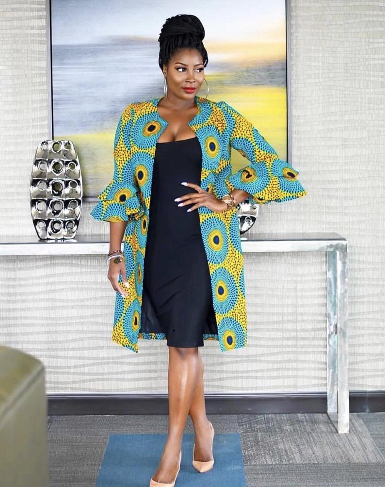 African women jacket/ Kimono jacket/ African print cape/ Ankara jacket/african women clothing / African fashion jacket/