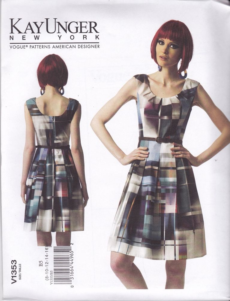 Details zu Vogue Nähmuster Misses\' Kay Unger New York gefüttert ...