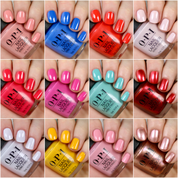 Opi Nail Polish Color Chart: OPI Lisbon Collection Swatches & Review