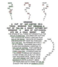 Coffee Concrete Poem Maker Shape Poems For Kids Poetry About