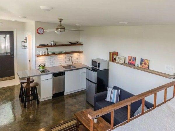 Garage Converted Into 250 Sq Ft Tiny House Now For Sale ม ร ปภาพ ออกแบบบ าน บ าน การออกแบบบ านหล งเล ก