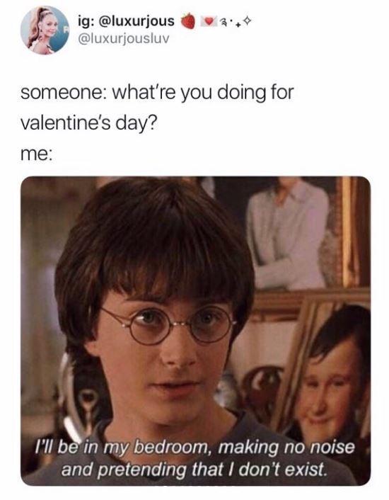 17 Anti Valentine S Day Memes For The Salty Singles Memebase Funny Memes In 2021 Harry Potter Memes Hilarious Valentines Memes Valentines Day Memes