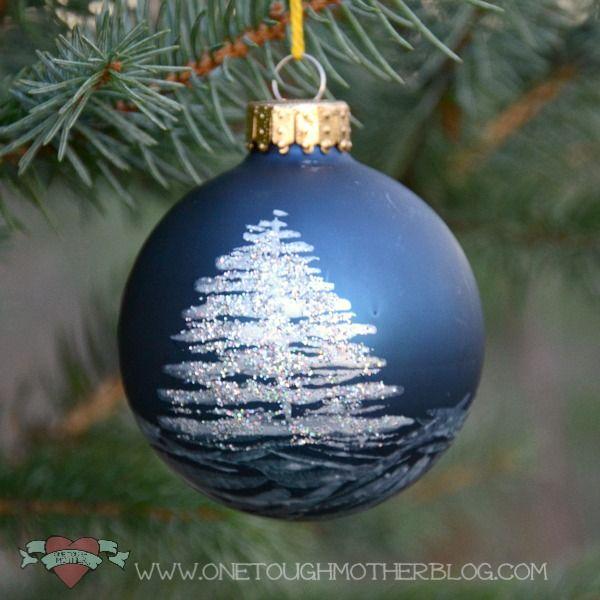 Great Idea Turn Plain Baubles Into Designer One Off Creations Christmas Tutori Diy Christmas Tree Ornaments Painted Christmas Ornaments Christmas Ornaments