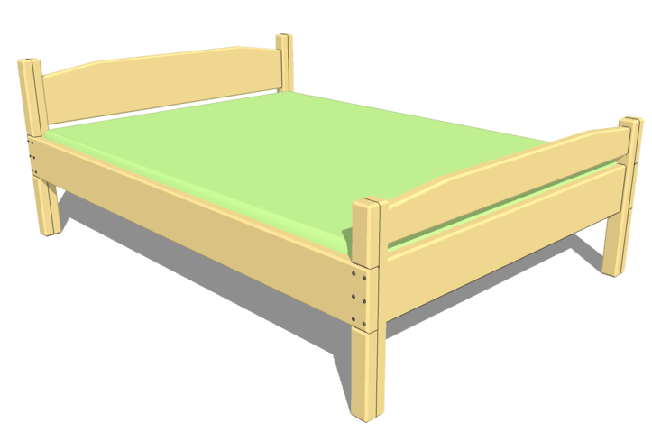 Double Bed Plan Easiest Plan Yet Bed Plans Bed Full Bed Frame