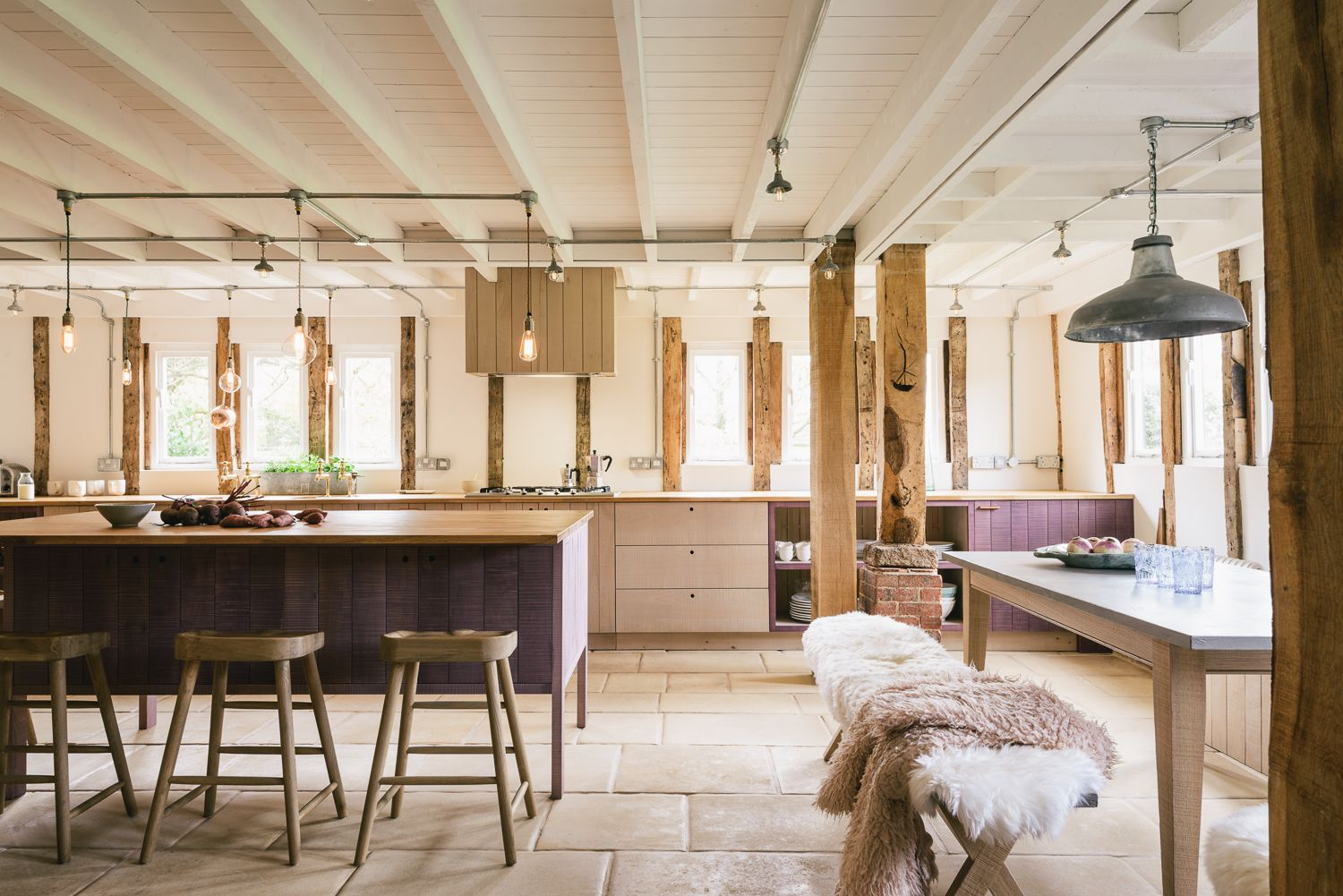 The hampshire barn kitchen by devol in lavender and natural a brand