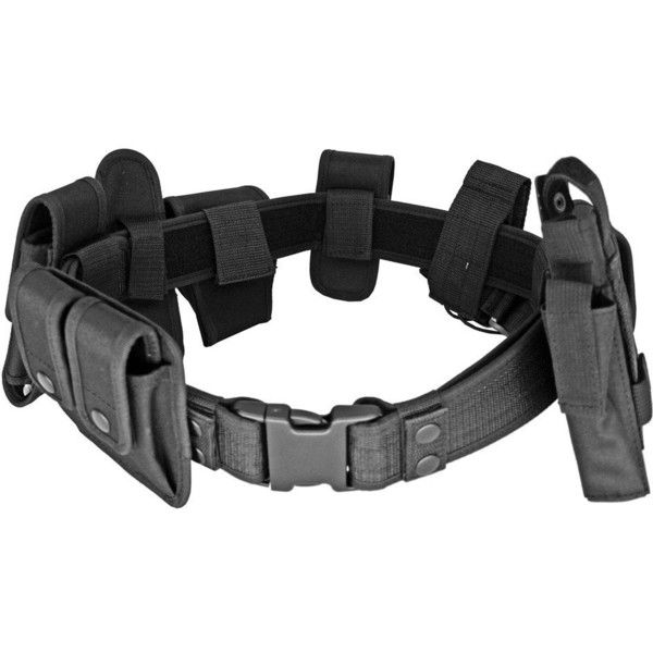 LAW ENFORCEMENT-MILITARY TACTICAL MODULAR DUTY BELT UTILITY ($25) ❤ liked on Polyvore featuring belts, accessories, weapons, sport belt, military utility belt, sports belt, military belt and military style belt