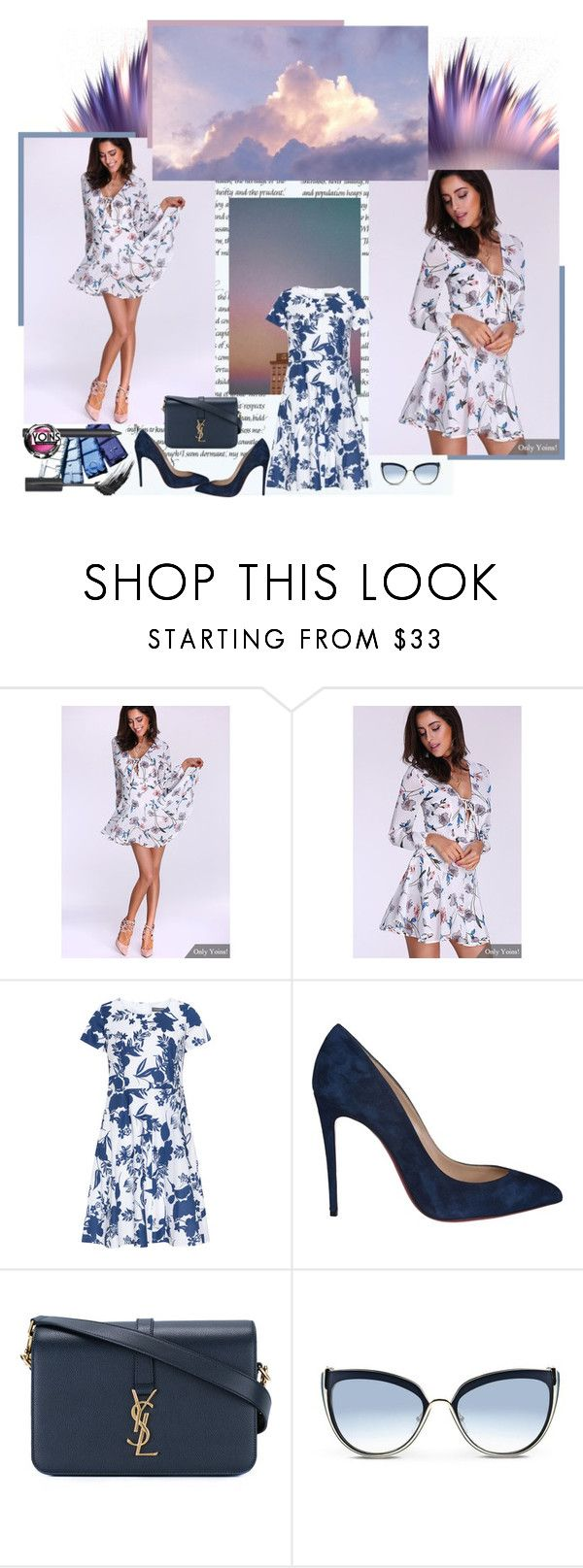"""""""What a beautiful day!"""" by vivienlacroix ❤ liked on Polyvore featuring Christian Louboutin, Yves Saint Laurent and Karl Lagerfeld"""