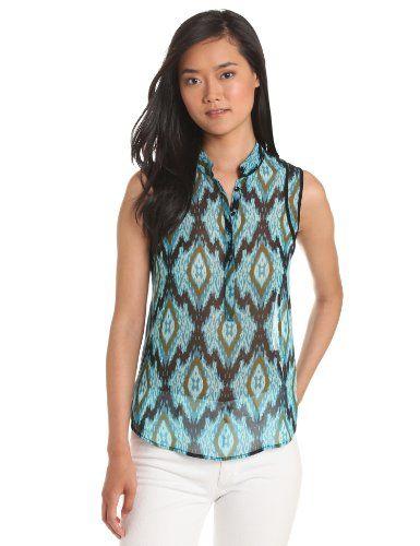 Kensie Women's Aztec Print Top, Splash Multi,  kensie,http://www.amazon.com/dp/B00D3F7ANE/ref=cm_sw_r_pi_dp_2XRutb1WH9HVNYGT (Size: Large) = $21.90