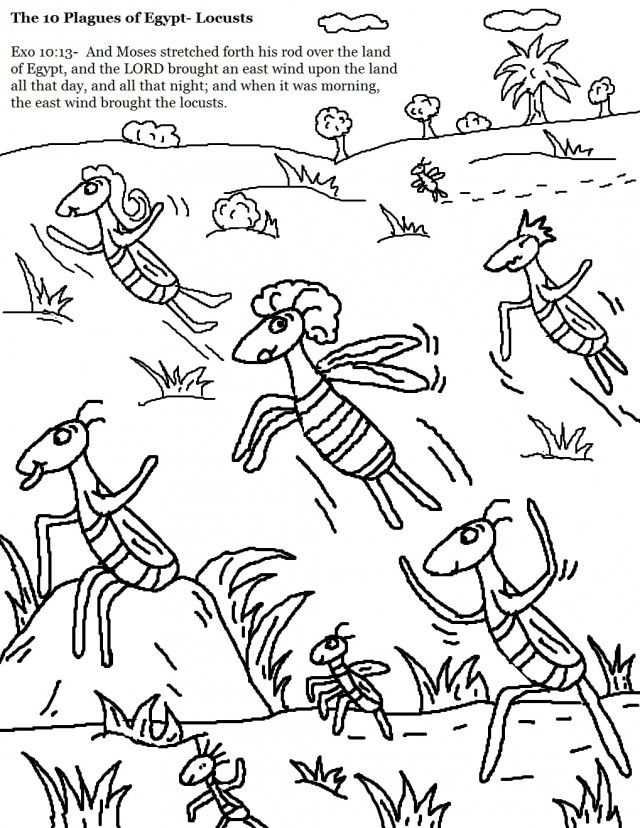 Coloring Pages 10 Plagues Of Egypt God Online Coloring Pages 10