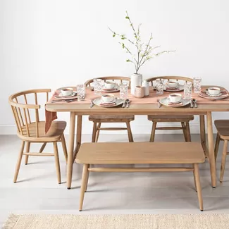 Shaker Dining Table Natural Hearth Hand With Magnolia In 2021 Dining Table Magnolia Furniture Hearth Hand With Magnolia