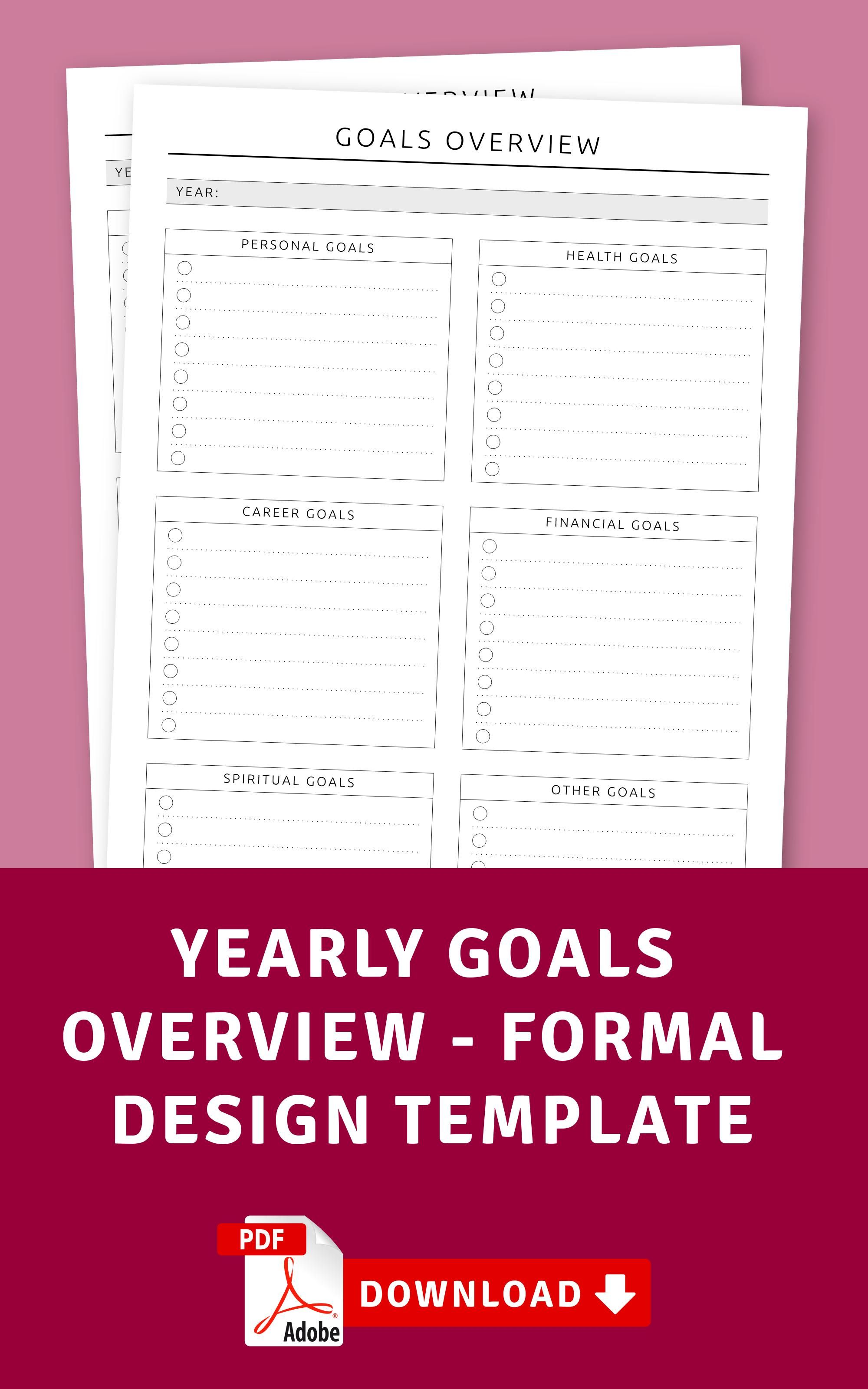 Yearly Goals Overview