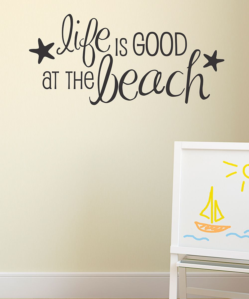 Black life is good at the beach wall decal boys bedroom black life is good at the beach wall decal amipublicfo Gallery