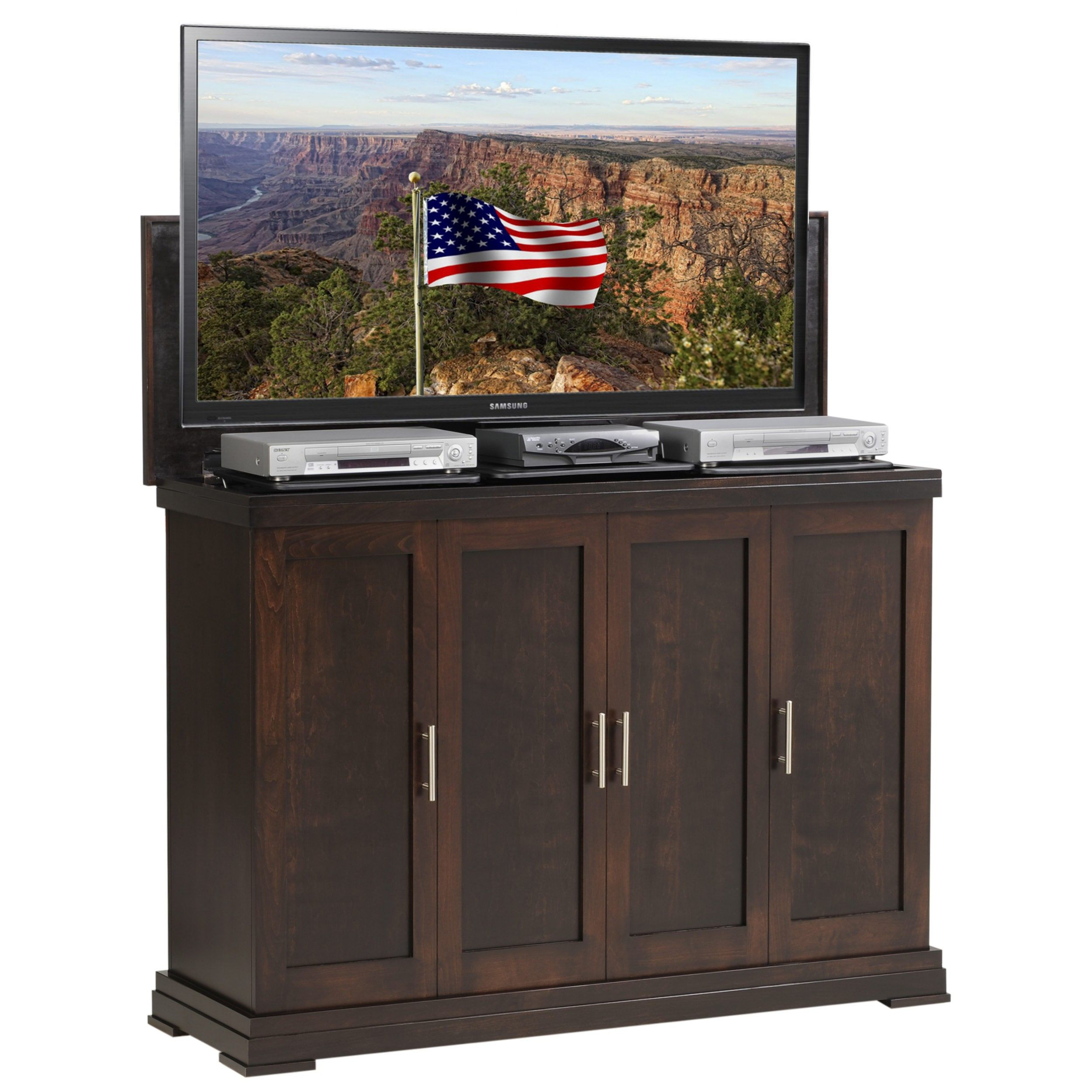TV Lift Cabinet built in the United States by Amish craftsmen