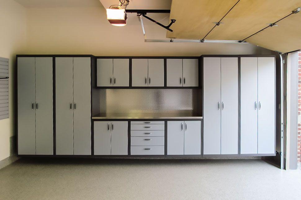 Gl Custom Steel Garage Cabinetry Steel Garage Garage Garage Cabinet Systems