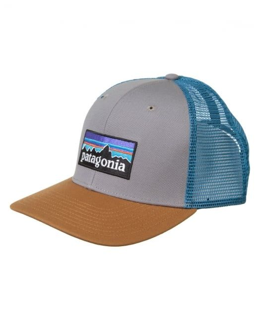 Patagonia P-6 Logo Trucker Hat - Feather Grey Bear Brown  8348a52e7643