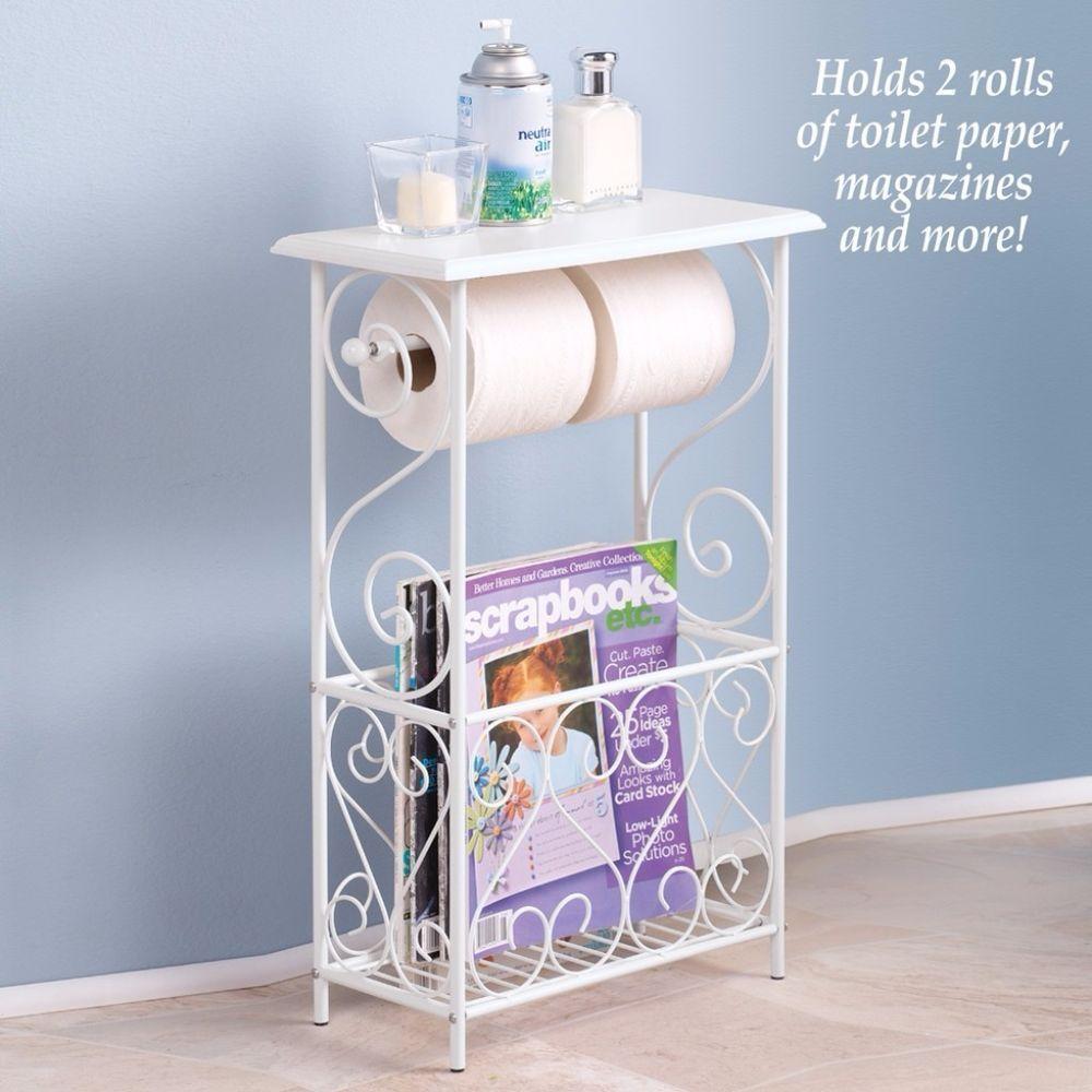 Table Magazine Rack Toilet Paper Holder