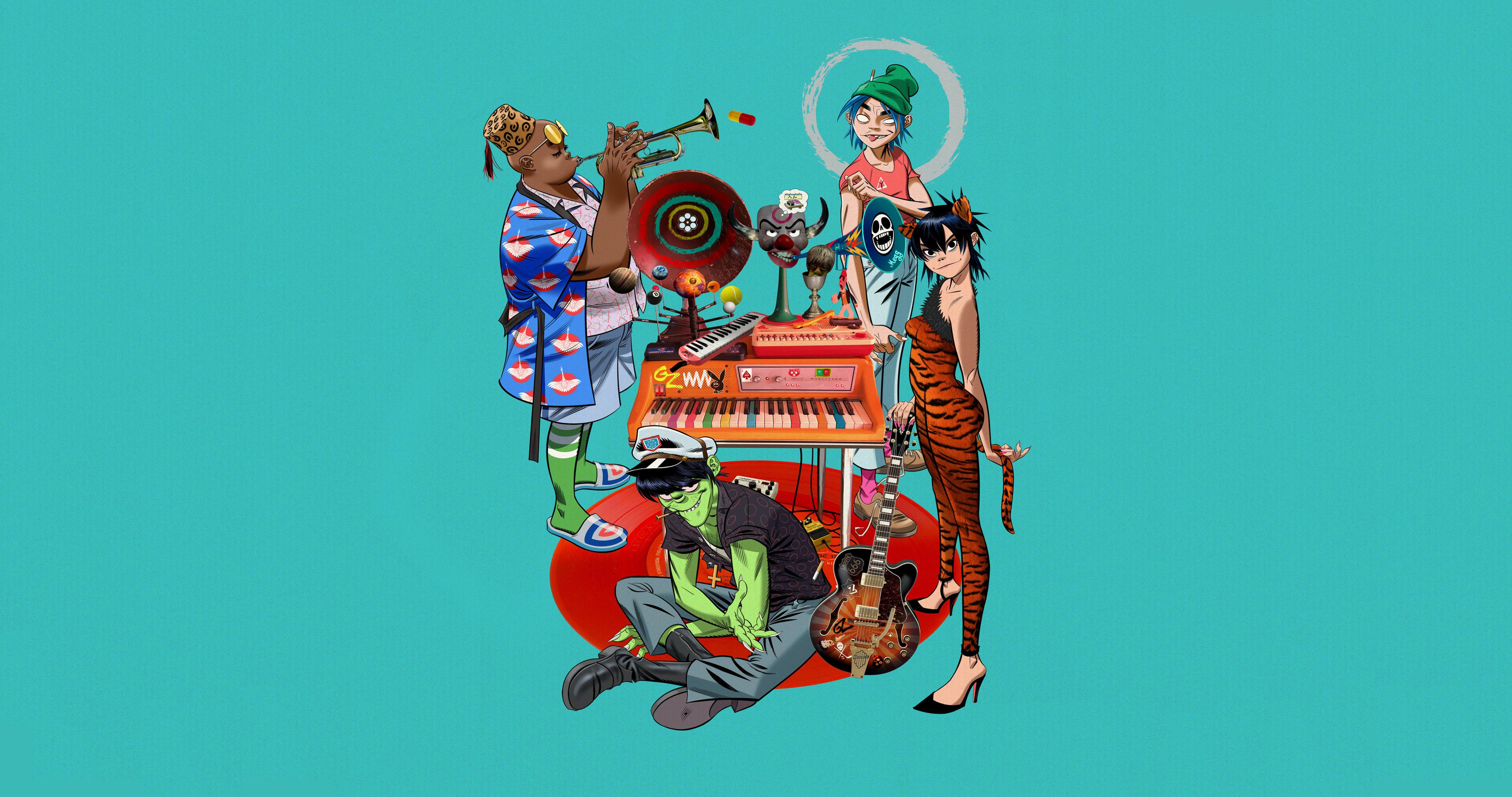 Song Machine By Gorillaz 4096x2160 In 2020 Gorillaz Gorillaz Art Wallpaper